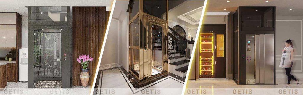 Các mẫu thang máy gia đình theo thiết kế