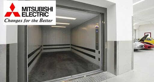 thang máy chuyển hàng mitsubishi